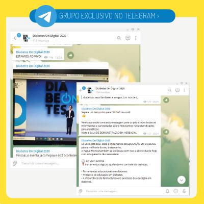 Grupo oficial do evento no Telegram