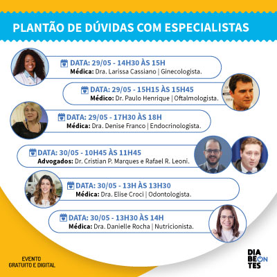 PLANTÃO DE DÚVIDAS COM ESPECIALISTAS